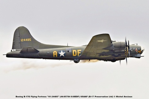 DSC_2103 Boeing B-17G Flying Fortress ''41-24485'' (44-85784 G-BEDF) USAAF (B-17 Preservation Ltd) © Michel Anciaux