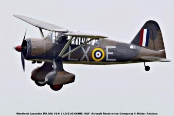 DSC_2400 Westland Lysander MK.IIIA V9312 LX-E (G-CCOM) RAF (Aircraft Restoration Company) © Michel Anciaux