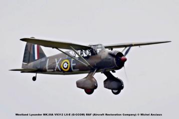 DSC_2406 Westland Lysander MK.IIIA V9312 LX-E (G-CCOM) RAF (Aircraft Restoration Company) © Michel Anciaux