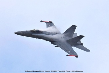DSC_2689 McDonnell Douglas FA-18C Hornet ''HN-406'' Finnish Air Force © Michel Anciaux