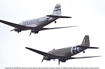 DSC_2747 Douglas DC-3C N877MG Pan American Airways (Historic Flight Foundation) & Douglas C-47A-DC 42-100884 (N147DC) USAAF (Aces High Limited) © Michel Anciaux