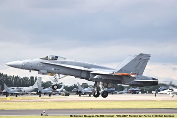 DSC_2749 McDonnell Douglas FA-18C Hornet ''HN-406'' Finnish Air Force © Michel Anciaux