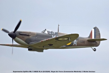 DSC_3074 Supermarine Spitfire Mk.1 X4650 KL-A (G-CGUK) Royal Air Force (Commanche Warbirds) © Michel Anciaux