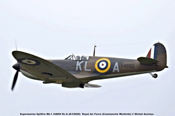 DSC_3075 Supermarine Spitfire Mk.1 X4650 KL-A (G-CGUK) Royal Air Force (Commanche Warbirds) © Michel Anciaux