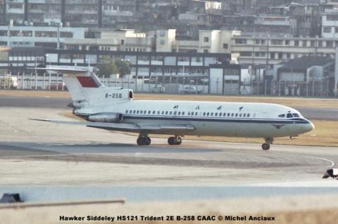 img617 Hawker Siddeley HS121 Trident 2E B-258 CAAC © Michel Anciaux