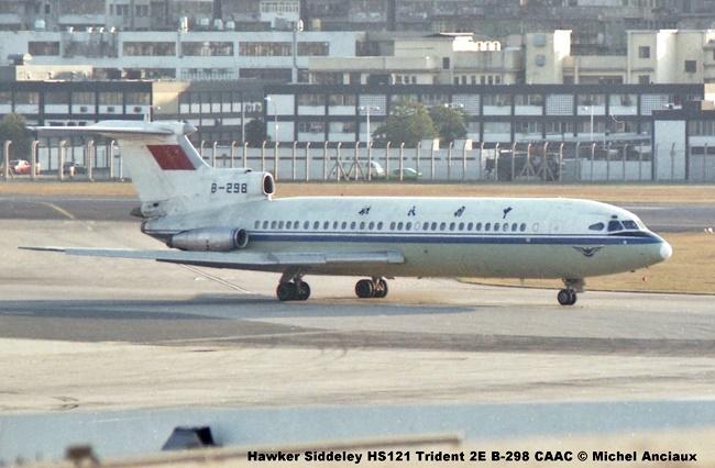 img621 Hawker Siddeley HS121 Trident 2E B-298 CAAC © Michel Anciaux