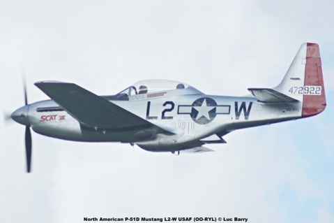 DSC08996 North American P-51D Mustang L2-W USAF (OO-RYL) © Luc Barry