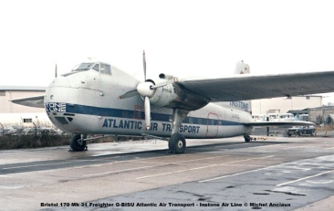801 Bristol 170 Mk 31 Freighter G-BISU Atlantic Air Transport - Instone Air Line © Michel Anciaux