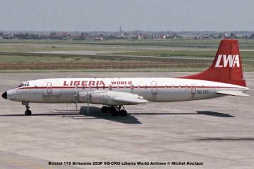 890 Bristol 175 Britannia 253F 9Q-CKG Liberia World Airlines © Michel Anciaux