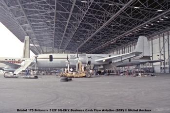 902 Bristol 175 Britannia 312F 9Q-CHY Business Cash Flow Aviation (BCF) © Michel Anciaux