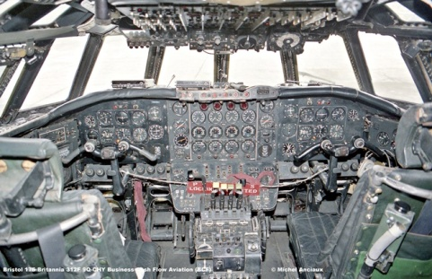 905 Bristol 175 Britannia 312F 9Q-CHY Business Cash Flow Aviation (BCF) © Michel Anciaux