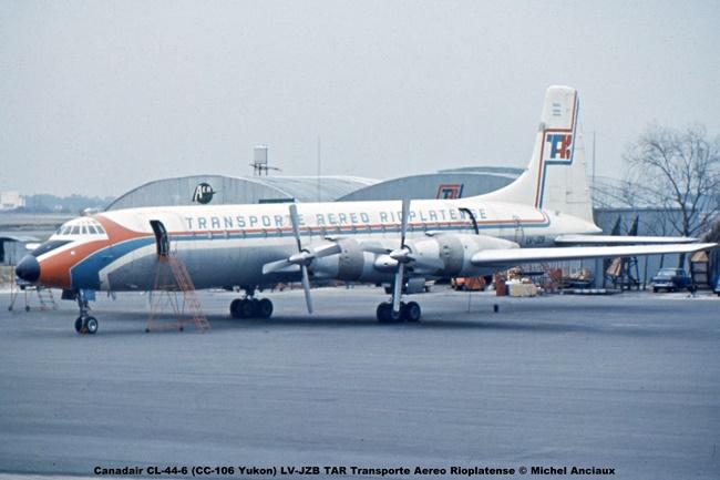 928 Canadair CL-44-6 (CC-106 Yukon) LV-JZB TAR Transporte Aereo Rioplatense © Michel Anciaux