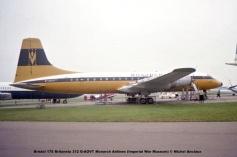 DSC_0501 Bristol 175 Britannia 312 G-AOVT Monarch Airlines (Imperial War Museum) © Michel Anciaux
