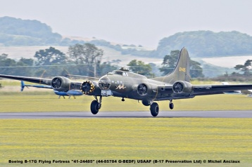 DSC_2000 Boeing B-17G Flying Fortress ''41-24485'' (44-85784 G-BEDF) USAAF (B-17 Preservation Ltd) © Michel Anciaux