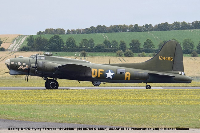 DSC_2130 Boeing B-17G Flying Fortress ''41-24485'' (44-85784 G-BEDF) USAAF (B-17 Preservation Ltd) © Michel Anciaux