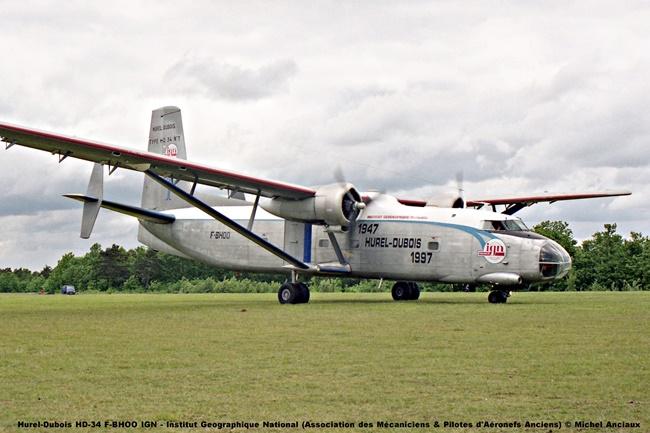 img026 Hurel-Dubois HD-34 F-BHOO IGN - Institut Geographique National (Association des Mécaniciens & Pilotes d'Aéronefs Anciens) © Michel Anciaux