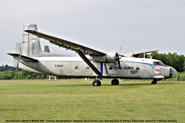 img027 Hurel-Dubois HD-34 F-BHOO IGN - Institut Geographique National (Association des Mécaniciens & Pilotes d'Aéronefs Anciens) © Michel Anciaux
