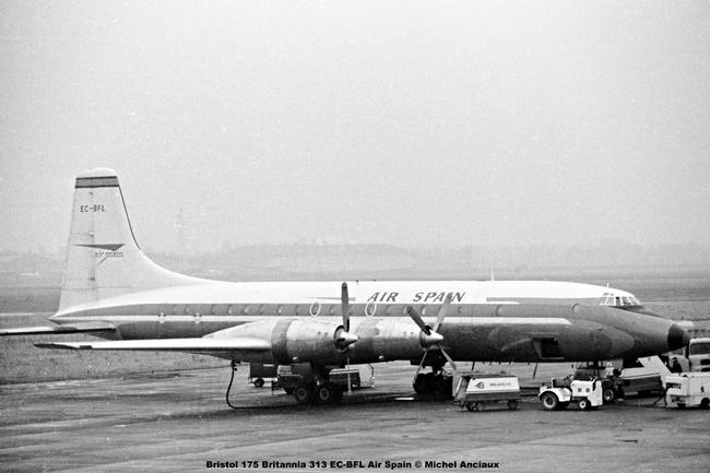 img280 Bristol 175 Britannia 313 EC-BFL Air Spain © Michel Anciaux