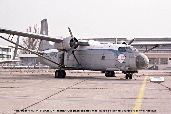 img563 Hurel-Dubois HD-34 F-BICR IGN - Institut Geographique National (Musée de l'air du Bourget) © Michel Anciaux