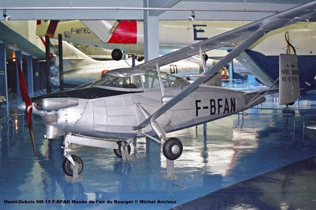 img592 Hurel-Dubois HD-10 F-BFAN Musée de l'air du Bourget © Michel Anciaux