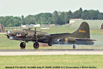 img598 Boeing B-17G-105-VE ''41-24485 Sally B'' USAAF (G-BEDF B-17 Preservation) © Michel Anciaux