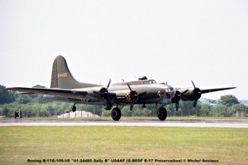 img604 Boeing B-17G-105-VE ''41-24485 Memphis Belle'' USAAF (G-BEDF B-17 Preservation) © Michel Anciaux