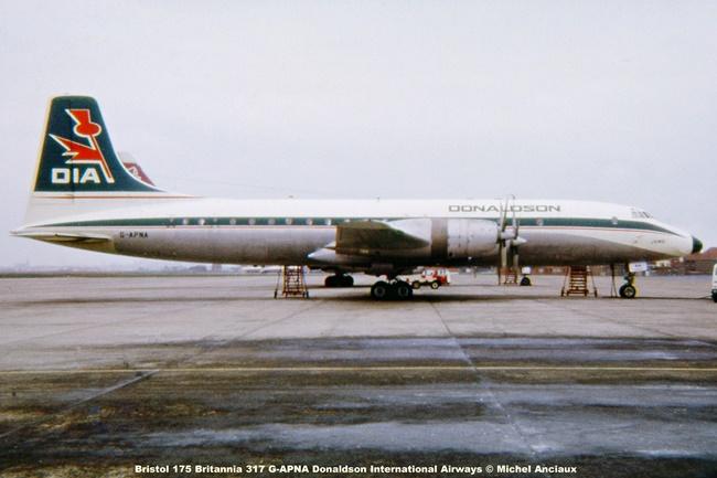 img650 Bristol 175 Britannia 317 G-APNA Donaldson International Airways © Michel Anciaux