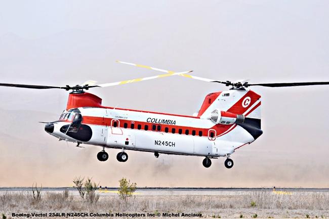 DSC_0100 Boeing-Vertol 234LR N245CH Columbia Helicopters Inc © Michel Anciaux