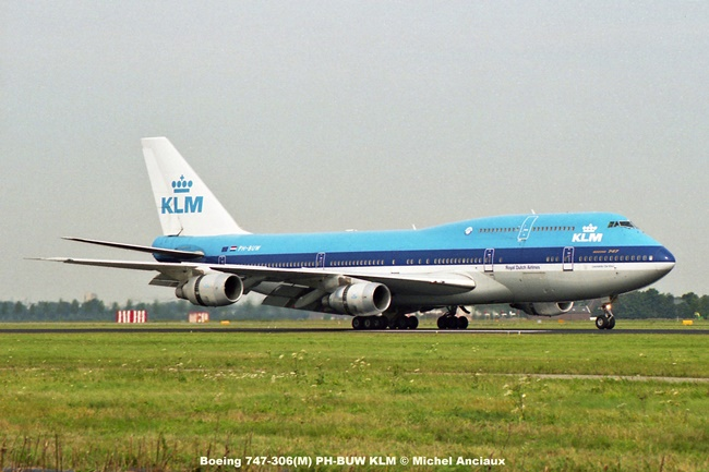 img048 Boeing 747-306(M) PH-BUW KLM © Michel Anciaux