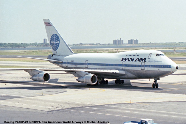 img200 Boeing 747SP-21 N532PA Pan American World Airways © Michel Anciaux