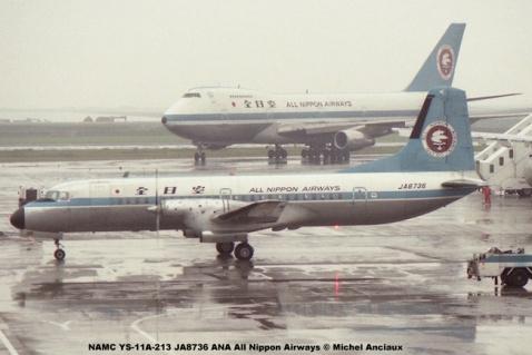 001 NAMC YS-11A-213 JA8736 ANA All Nippon Airways © Michel Anciaux