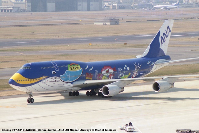 022 Boeing 747-481D JA8963 (Marine Jumbo) ANA All Nippon Airways © Michel Anciaux