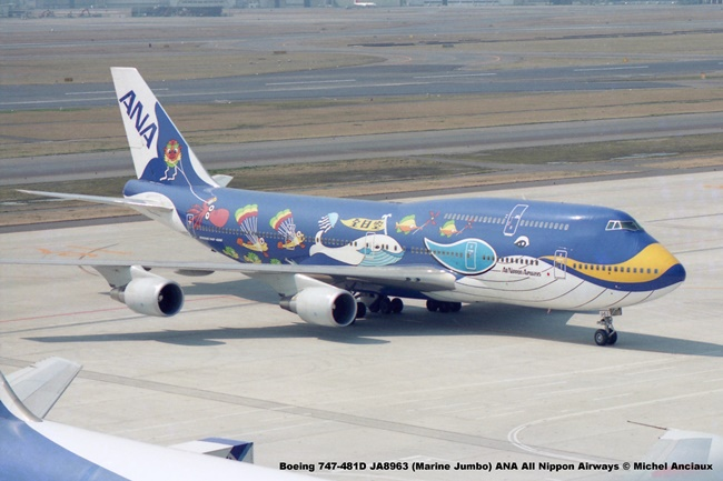 024 Boeing 747-481D JA8963 (Marine Jumbo) ANA All Nippon Airways © Michel Anciaux