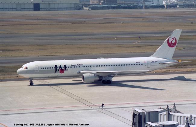 045 Boeing 767-346 JA8265 Japan Airlines © Michel Anciaux