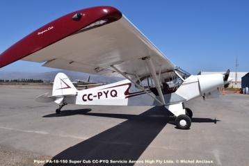 DSC_0007 Piper PA-18-150 Super Cub CC-PYQ Servicio Aereos High Fly Ltda. © Michel Anciaux