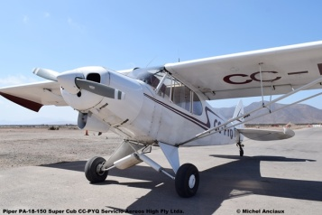 DSC_0009 Piper PA-18-150 Super Cub CC-PYQ Servicio Aereos High Fly Ltda. © Michel Anciaux