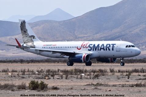 DSC_001 Airbus A320-232(SL) CC-AWA (Halcon Peregrino Austral) JetSmart © Michel Anciaux