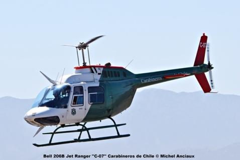 DSC_0014 Bell 206B Jet Ranger ''C-07'' Carabineros de Chile © Michel Anciaux