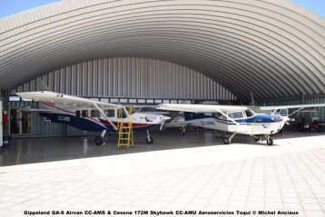 DSC_0034 Gippsland GA-8 Airvan CC-AMS & Cessna 172M Skyhawk CC-AMU Aeroservicios Toqui © Michel Anciaux