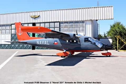 DSC_0035 Vulcanair P-68 Observer 2 ''Naval 321'' Armada de Chile © Michel Anciaux