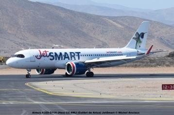 DSC_005 Airbus A320-271N (Neo) CC-AWJ (Colibri de Arica) JetSmart © Michel Anciaux