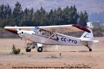 DSC_0050 Piper PA-18-150 Super Cub CC-PYQ Servicio Aereos High Fly Ltda. © Michel Anciaux
