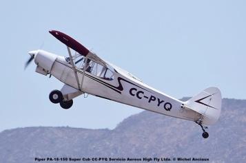 DSC_0065 Piper PA-18-150 Super Cub CC-PYQ Servicio Aereos High Fly Ltda. © Michel Anciaux
