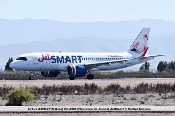 DSC_007 Airbus A320-271N (Neo) CC-AWK (Flamenco de James) JetSmart © Michel Anciaux