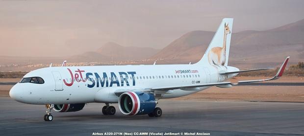 DSC_008 Airbus A320-271N (Neo) CC-AWM (Vicuña) JetSmart © Michel Anciaux