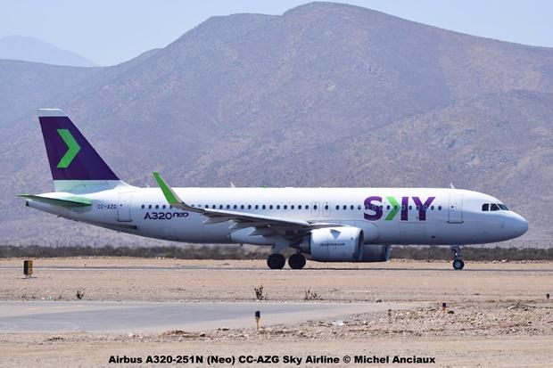 DSC_0186 Airbus A320-251N (Neo) CC-AZG Sky Airline © Michel Anciaux