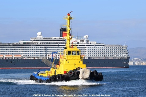 DSC_0326 CB5913 Petrel & Queen Victoria Cruise Ship © Michel Anciaux