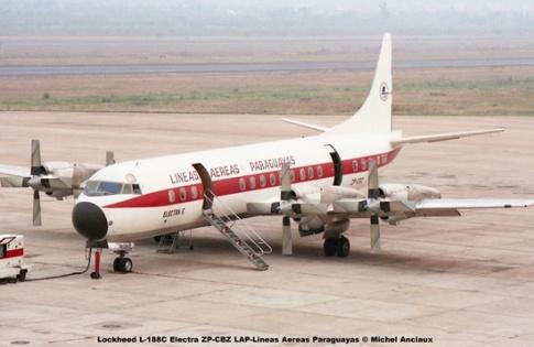 08 Lockheed L-188C Electra ZP-CBZ LAP-Lineas Aereas Paraguayas © Michel Anciaux