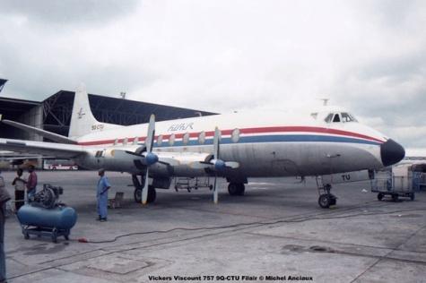 1010 Vickers Viscount 757 9Q-CTU Filair © Michel Anciaux