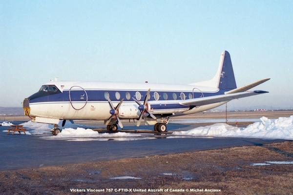 1014 Vickers Viscount 757 C-FTID-X United Aircraft of Canada © Michel Anciaux